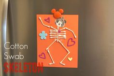 Cotton Swab Skeleton  #DisneyJuniorMom