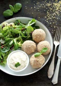 Olive and Caper Stuffed Millet Balls • Green Evi