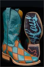 Tin Haul Boots Women's Turquoise Diamonds For Gals Cowgirl Boots