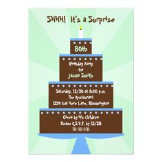surprise 80th birthday party invitations
