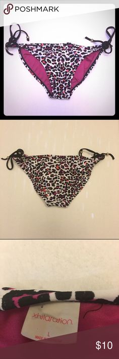 ☀️Xhileration leopard print swim bottoms☀️ Super cute to match with a black or hot pink top!! In excellent condition!! I'm a speedy shipper and we have a smoke free home! Xhilaration Swim Bikinis