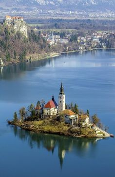 A Cursory Look At The Lake Bled, Slovenia by Edvard - Badri Storman Places Around The World, Oh The Places You'll Go, Places To Travel, Places To Visit, Around The Worlds, Travel Maps, Beautiful World, Beautiful Places, Beau Site