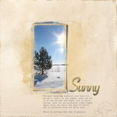 Photo by me, 12 March Sunshine over snowy field in Southern Finland. Resources: - quick page by Joanne Brisebois Sunny Scrapbooking Layouts, Sunnies, Polaroid Film, Deviantart, Sunglasses, Eyewear, Scrapbook Layouts, Scrapbooking Ideas, Scrapbook Page Layouts