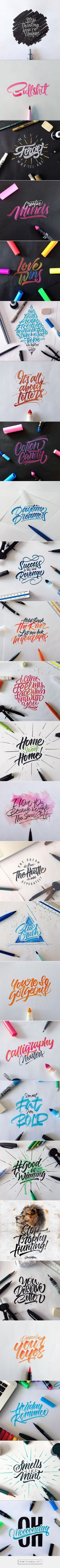 Crayola & Brushpen Lettering Set 3 on Behance - created via http://pinthemall.net