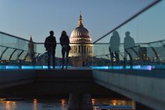 Would love to see this and visit London. Saint Paul's dome and The Millennium Bridge by Angelo Ferraris
