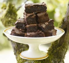You know these squidgy chocolate cake squares with orange zest are going to be good!