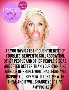{Lessons From} Amy Poehler // Inspired by Charm