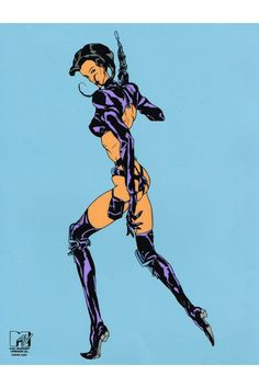 AEON FLUX LIMITED EDITION ANIMATION CEL  // Limited edition hand drawn cel from the classic 90's series