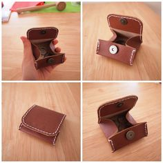 Leather crafts - DIY leather coin case.