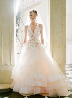 Floral Wedding Gown by Lazaro Lilac Wedding, Mod Wedding, Spring Wedding, Wedding Ideas, Wedding Themes, Wedding Bells, Wedding Bride, Floral Wedding, Wedding Planning