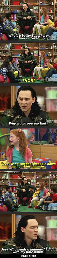 Who\'s A Better Superhero? Thor Or Loki...#funny #lol #lolzonline