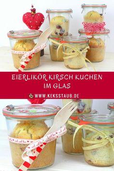 {Rezept zum Valentinstag} Eierlikör Kirsch Kuchen im Glas - mit und ohne Thermomix