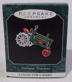 Hallmark Keepsake Miniature Ornament Antique Tractors Series #2 1998 NIB