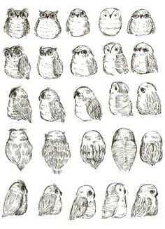 Owls Art Print - ideas for tattoos