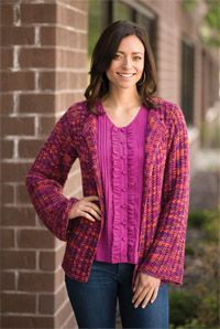 Kaleidoscope #Cardigan - from the Spring 2015 Issue of Love of #Knitting magazine
