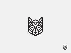 Line Wolf - vector drawing This is so cute, probably going to get this as a stick and poke somewhere hidden for myself! Cool Tattoos, Vector Drawing, Wolf Tattoos, Design, Tattoos, Line Icon, Wolf Tattoo, Geometric Tattoo, Tattoo Designs