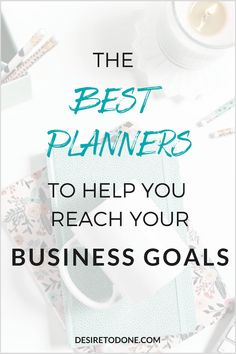 Choosing the right planner can be a daunting task- there are tons of them on the market! I'm sharing three planners I use for my business, check it out! Business Planner, Business Goals, Business Tips, Online Business, Career Goals, Career Advice, Best Planners, Day Planners, Creating A Business