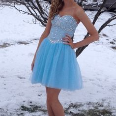 Sexy Prom Dress,Blue Beaded Prom Gown,Cute Prom Dress,Short