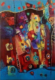 Pintura Abstracta, Mixes Media Art. by Monica Renedo