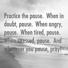 For now I pause...