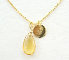 This listing is for set of 2 necklaces. These 2 necklaces can be worn together or separately. Citrine Gold Necklace and Gold Initial Necklace, 22k Gold Vermeil Citrine Drop Necklace, Genuine Natural Citrine Simple Necklace, Minimal Necklace, Everyday Jewelry Gold Vermeil Sterling Sterling Silver Gold Filled, Healing Stone, Dainty Simple Everyday Jewelry Mothers Day Gift Citrine is November Birthstone 22K Gold Vermeil, chain 925 Sterling Silver Gold Filled Necklaces are 16 and 18 inches…
