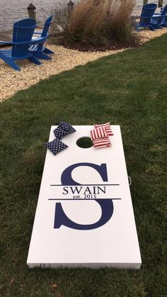 personalized corn hole boards - such a big hit!
