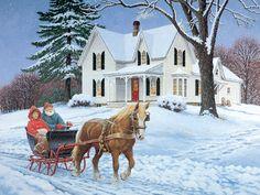 Jingle All The Way JohnSloaneArt.com - John Sloane - Gallery - Horsepower