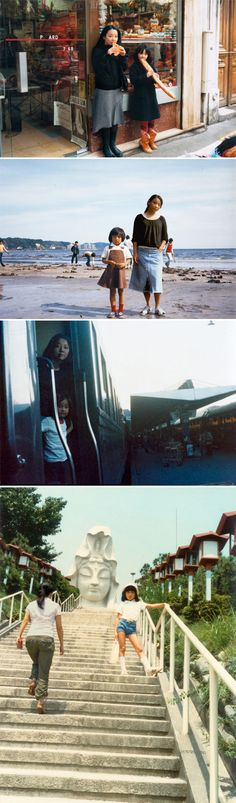 chino otsuka (she put her grown up self into her childhood photos!) <3