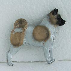 American Akita Brooch Dog Breed Jewellery Handpainted Handcrafted Resin