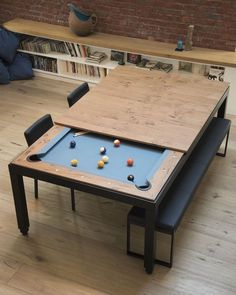 Office Furniture : A game and dining table clever! By Fusiontables _ Find more on Archiproducts.com… -Read More –