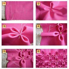Fabric Manipulation - Textile Design - S - DIY & Crafts Smocking Tutorial, Smocking Patterns, Dress Sewing Patterns, Knitting Patterns, Blouse Patterns, Craft Patterns, Skirt Patterns, Sewing Hacks, Sewing Tutorials