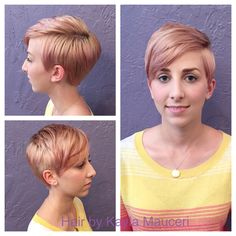 Rose gold pixie cut