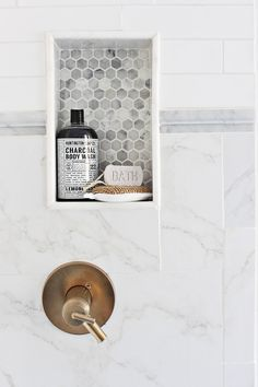Prescott View Home Reno:   Master Bathroom Reveal -   Tiling and soap dish can be tricky if you've never done it before but this was my second time doing a soap dish and I'm so happy with how it turned out.