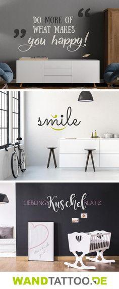 für die Küche - Ideen für kreative Küchen - wandtattoo braune wand