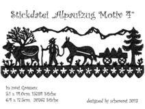 Stickdatei Scherenschnitt: Alpaufzug, Motiv 4 Embroidery Motifs, Embroidery Files, Traditional Art, Etsy, Elevator, Stitches, Embroidery Designs, Basteln, Needlepoint Patterns