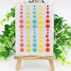 Sugar Sprinkles Self- adhesive Enamel Dots Resin Sticker for Scrapbooking/ DIY Crafts/ Card Making Decoration
