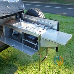 Our standard slide out kitchen is a fitted out version of our tailgate camper trailer kitchen. To make these units a slide out, they are fitted with our 227kg Locking Drawer Slides. These units can be manufactured from a left or right hand swing.   Features: This neat and tidy unit is sold throughout …