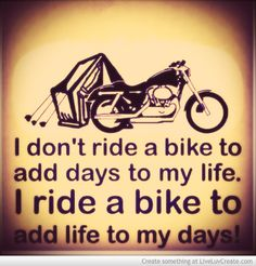 I Ride My Bike...