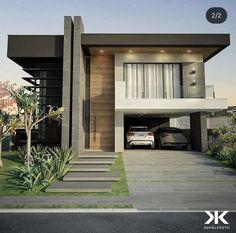 Modern Exterior House Designs, Modern House Facades, Modern Villa Design, Dream House Exterior, Modern Architecture House, Exterior Design, House Outside Design, House Front Design, Carriage House Plans
