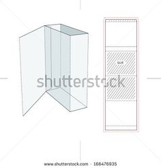 Software Box Sleeve with Flip Cover and Blueprint - stock vector