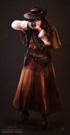 Ana the Gunslinger by *nma-art on deviantART