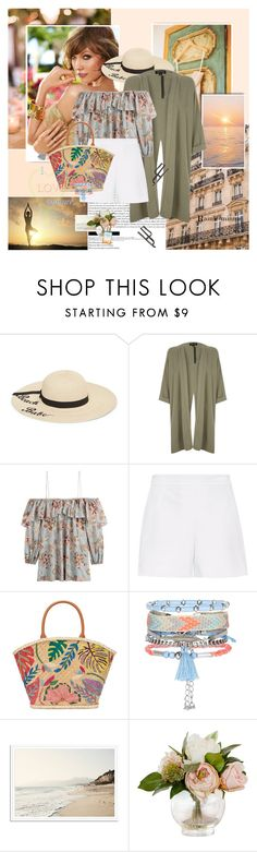 """Karlie Kloss"" by rainie-minnie ❤ liked on Polyvore featuring Betsey Johnson, River Island, Zimmermann, Hallhuber, Tory Burch and New Look"