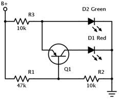 Voltage indicator transitions between colours This Design Idea gives two versions of an indicator light that changes from green to red as a battery discharges. There are many circuits that do this sort of thing, but all the For more detail: http://duino4projects.com/voltage-indicator-transitions-colours/ like and share: Arduino Projects Tutorial Code Keep Visiting: http://duino4projects.com/ #thearduinoshop