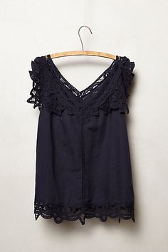 fluttered lace tank / anthropologie