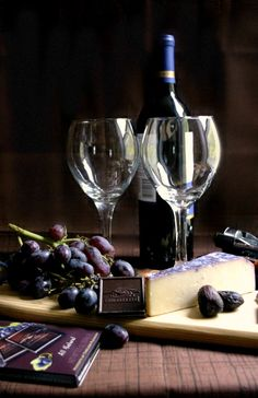 Chocolate and wine for two [ CityWineCellar.com ] #food #wine #quality #experience