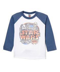 Blue & Gray Star Wars Raglan Tee - Toddler #zulily #zulilyfinds
