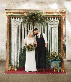 Macrame Wedding Backdrop for Boho Wedding Decor Wedding Ceremony Ideas, Wedding Altars, Wedding Events, Wedding Backdrops, Wedding Ceremonies, Wedding Reception, Ivory Wedding, Boho Wedding, Wedding Day
