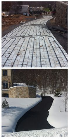 There's sNOw need to shovel your driveway with radiant flooring installation!