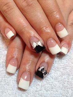 gell nail fancy french manacure - Google Search