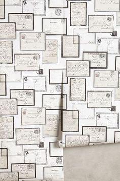 Calligrapher Collage Wallpaper - anthropologie.com